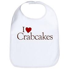 I Love Crabcakes Bib