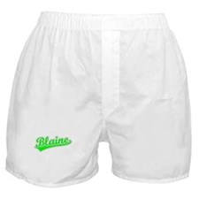 Retro Blaine (Green) Boxer Shorts