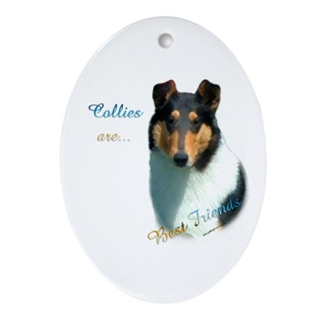 Collie(smooth) Best Friend 1 Oval Ornament