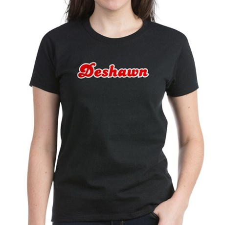 Retro Deshawn (Red) Women's Dark T-Shirt