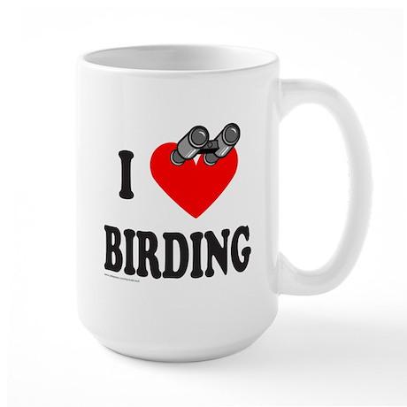 I HEART BIRDING Large Mug