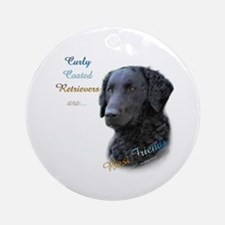 Curly-Coat Best Friend 1 Ornament (Round)