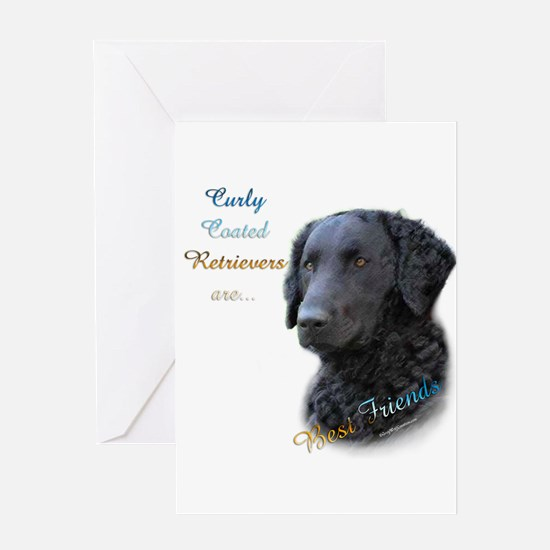 Curly-Coat Best Friend 1 Greeting Card