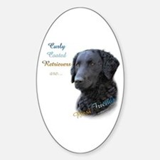 Curly-Coat Best Friend 1 Oval Decal