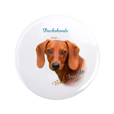 "Dachshund Best Friend 1 3.5"" Button (100 pack)"