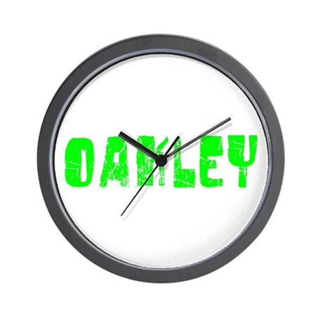 Oakley Faded (Green) Wall Clock