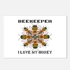 Beekeeper I Love My Honey Postcards (Package of 8)