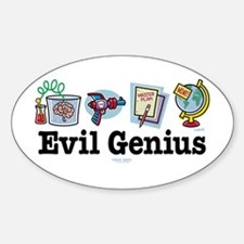 Evil Genius Oval Decal