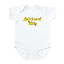 Retro National City (Gold) Infant Bodysuit