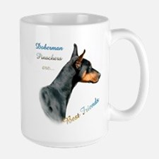 Dobie(blk) Best Friend1 Large Mug