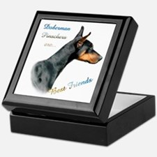 Dobie(blk) Best Friend1 Keepsake Box