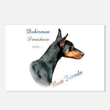 Dobie(blk) Best Friend1 Postcards (Package of 8)