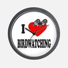 I HEART BIRDWATCHING Wall Clock