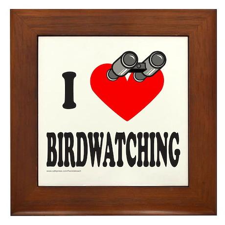 I HEART BIRDWATCHING Framed Tile