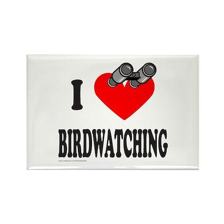 I HEART BIRDWATCHING Rectangle Magnet