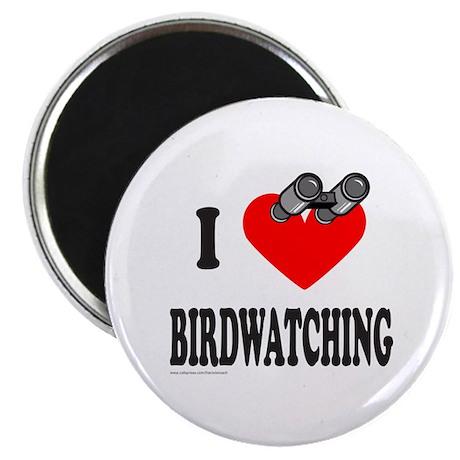 """I HEART BIRDWATCHING 2.25"""" Magnet (10 pack)"""