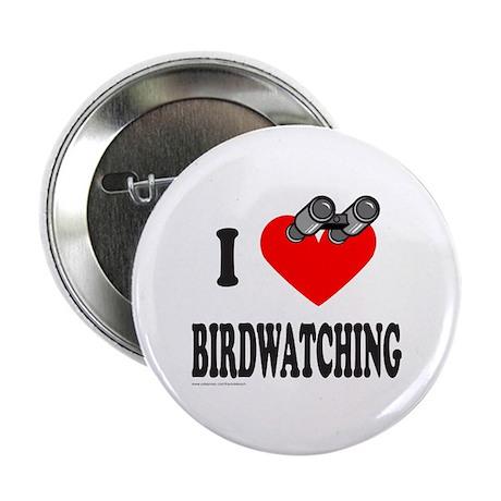 """I HEART BIRDWATCHING 2.25"""" Button"""