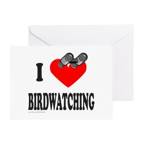 I HEART BIRDWATCHING Greeting Card