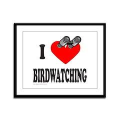 I HEART BIRDWATCHING Framed Panel Print