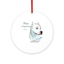 Dogo Best Friend 1 Ornament (Round)