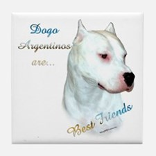 Dogo Best Friend 1 Tile Coaster