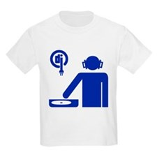 DJ on Turntables Kids T-Shirt