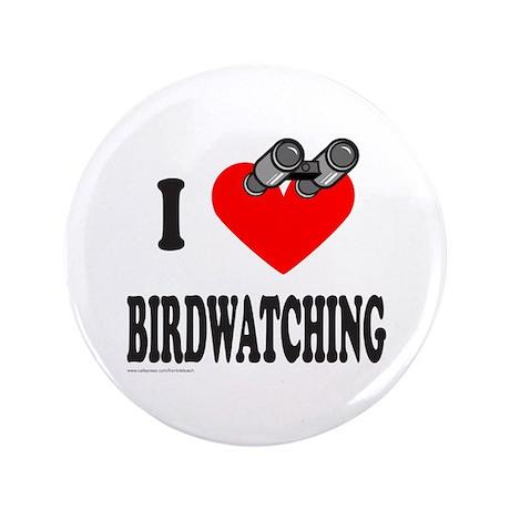 """I HEART BIRDWATCHING 3.5"""" Button (100 pack)"""