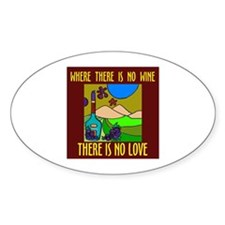 WINE LOVER Oval Decal