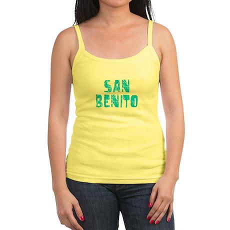 San Benito Faded (Blue) Jr. Spaghetti Tank
