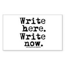 Write Here Rectangle Decal