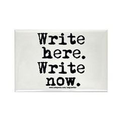 Write Here Rectangle Magnet (100 pack)