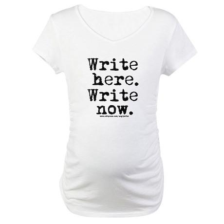 Write Here Maternity T-Shirt