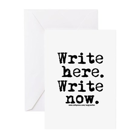 Write Here Greeting Cards (Pk of 10)