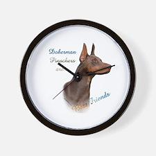 Dobie(red) Best Friend 1 Wall Clock