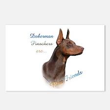Dobie(red) Best Friend 1 Postcards (Package of 8)