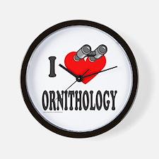 I HEART ORNITHOLOGY Wall Clock