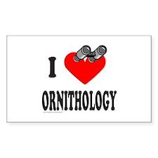 I HEART ORNITHOLOGY Rectangle Decal