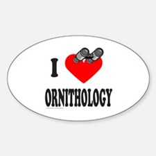 I HEART ORNITHOLOGY Oval Decal