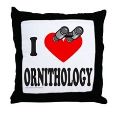 I HEART ORNITHOLOGY Throw Pillow