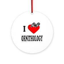 I HEART ORNITHOLOGY Ornament (Round)