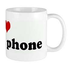 I Love my cell phone Mug