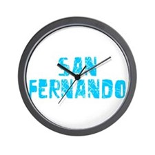 San Fernando Faded (Blue) Wall Clock