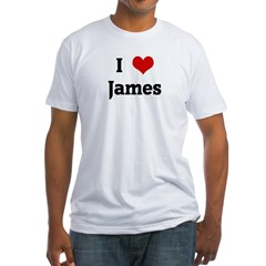 I Love James Fitted T-Shirt