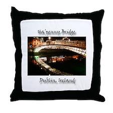 HA'PENNY BRIDE, DUBLIN Throw Pillow