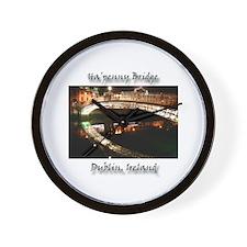 HA'PENNY BRIDE, DUBLIN Wall Clock