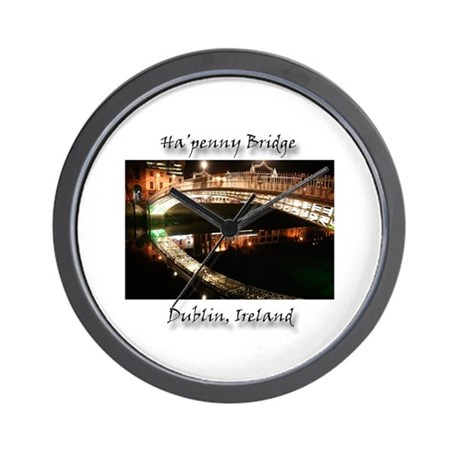 HA'PENNY BRIDE, DUBLIN Wall Clock