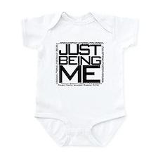 Just Being Me (Black) Infant Bodysuit