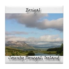 ERRIGAL IN THE CLOUDS Tile Coaster