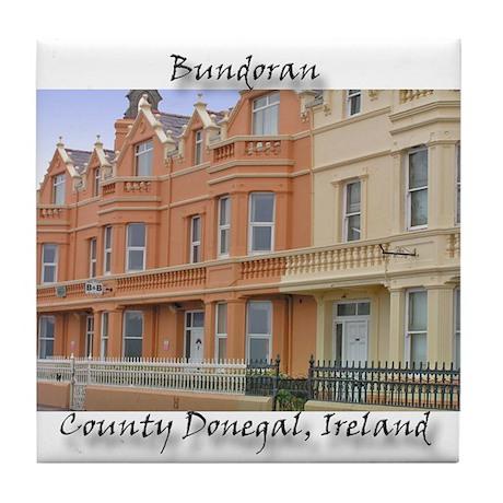 BUNDORAN SEAFRONT HOUSES Tile Coaster