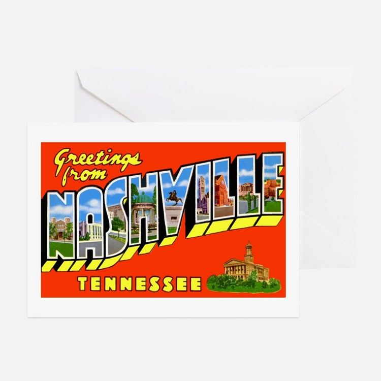 Nashville Tennessee Greetings Greeting Cards (Pk o